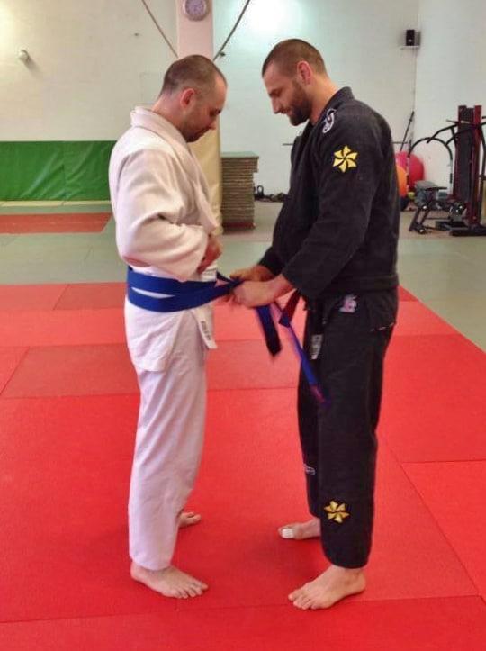 Tomas Blue belt Ribeiro Jiu Jitsu Slovakia