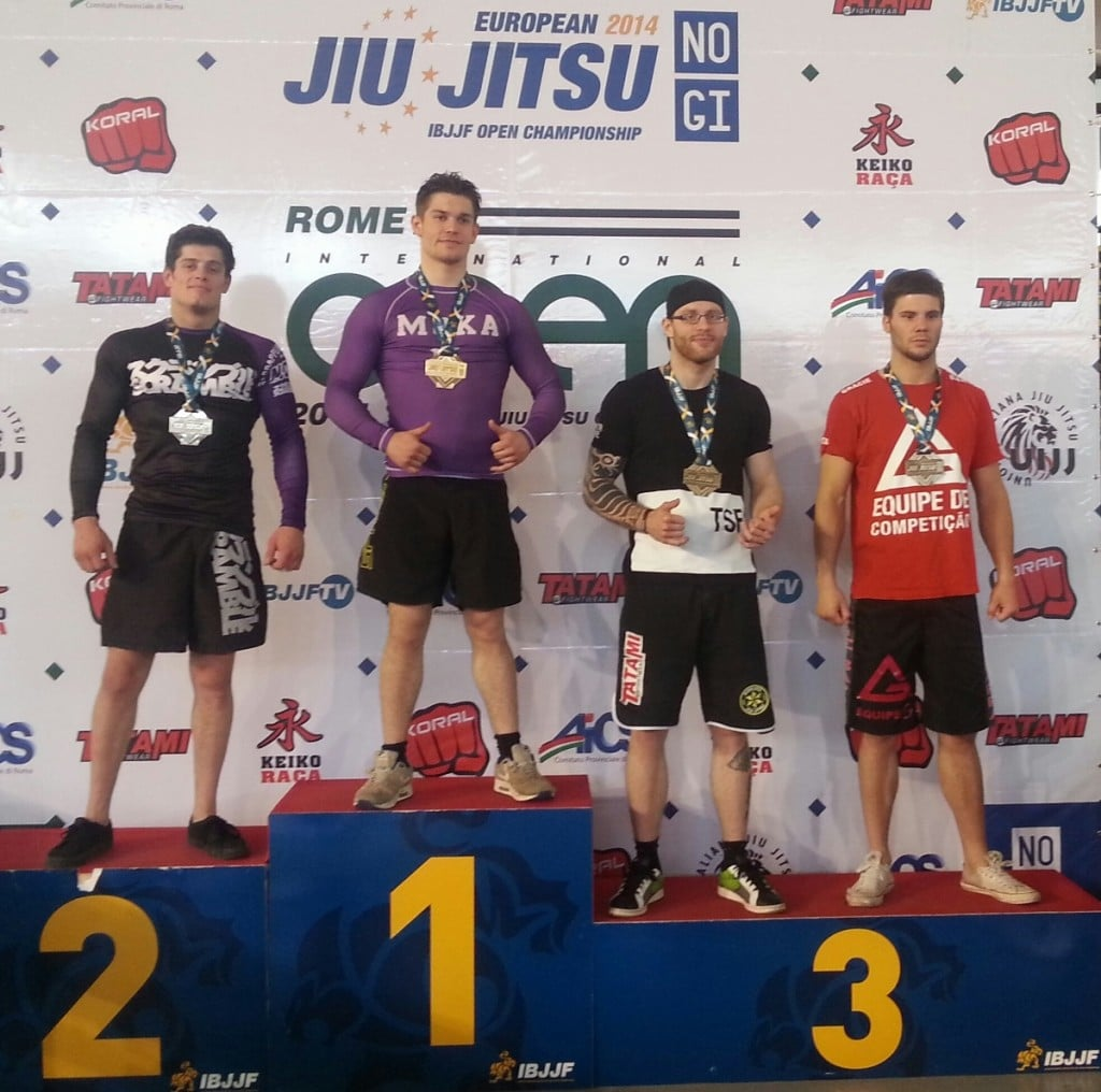 Podium Ibjjf No-Gi Europeans 2014